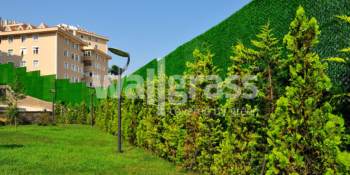 artificial grass fence usage in Turkey