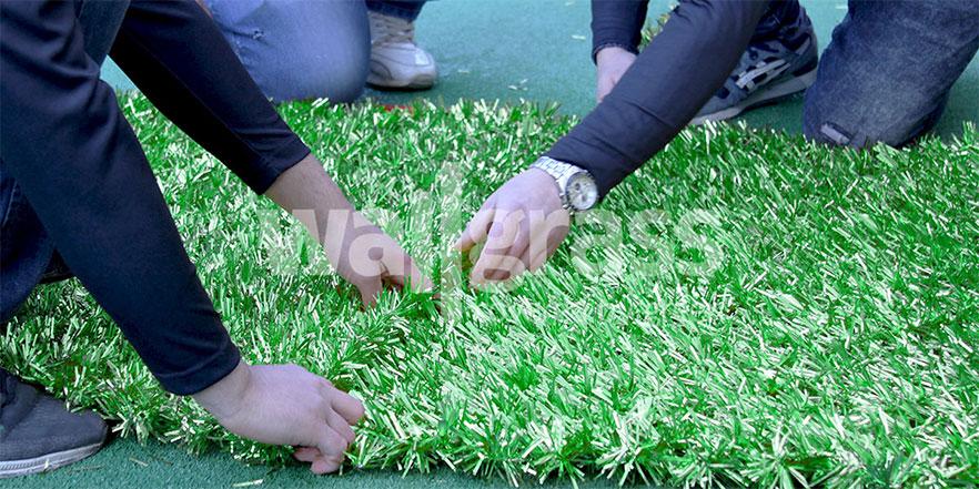 artificial grass hedge wall